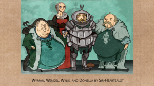 Wyman, Wendel, Wylis, and Donella by Sir-Heartsalot