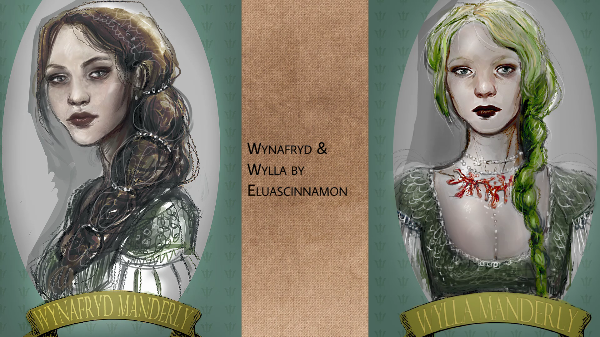 Wynafryd and Wylla by eluascinnamon