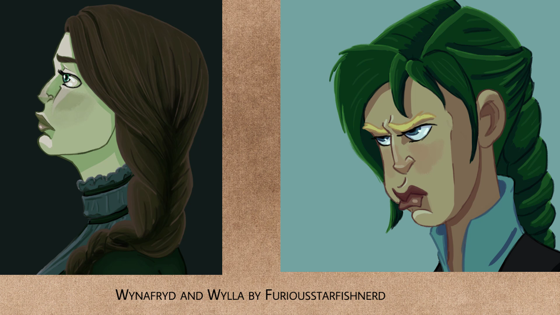 Wynafyrd and Wylla by furiousstarfishnerd