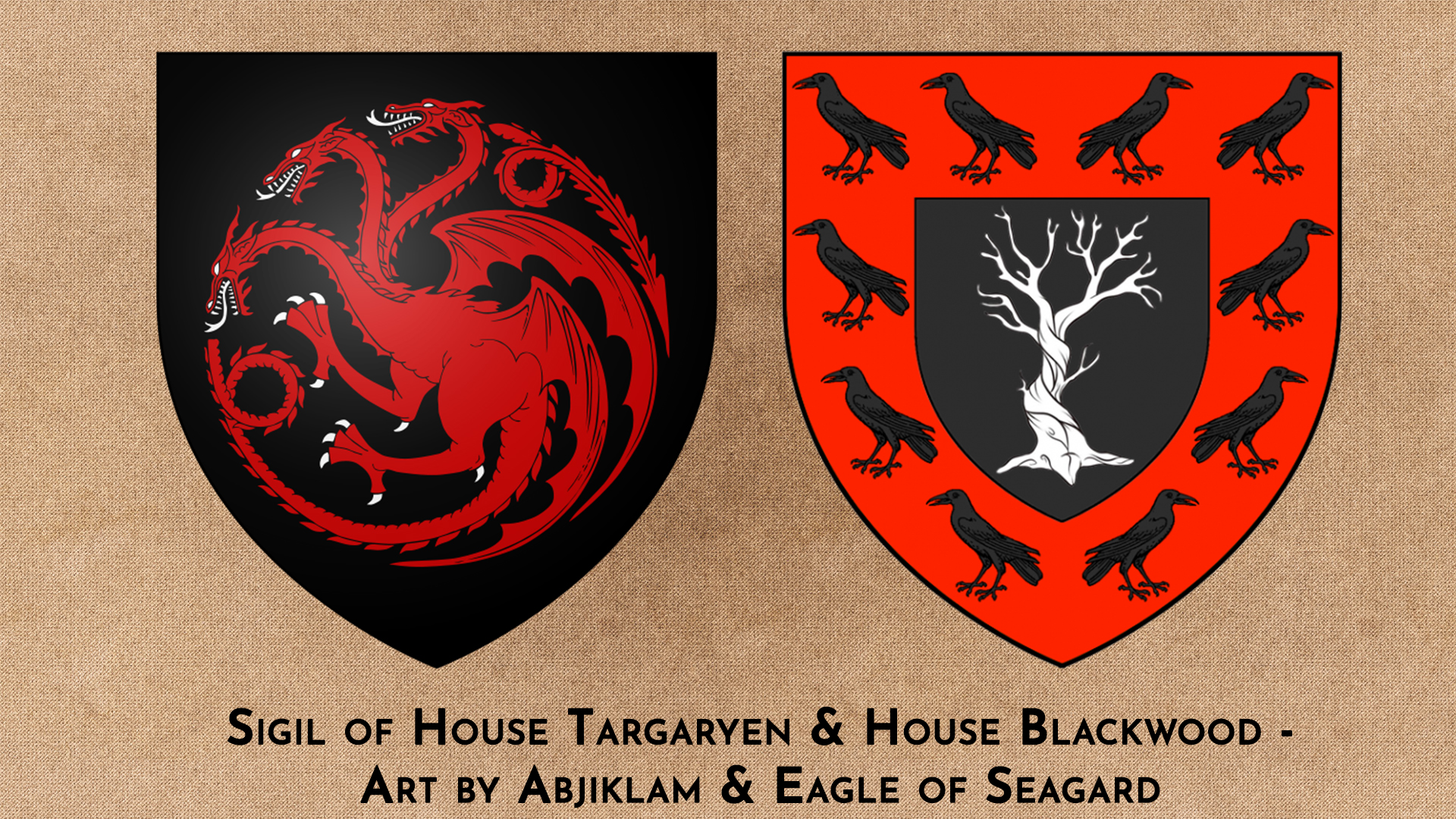 House Targaryen & House Blackwood by Abjiklam