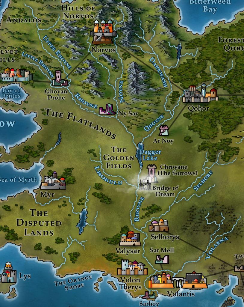 Map 1 - Rhoyne (Nymeria)