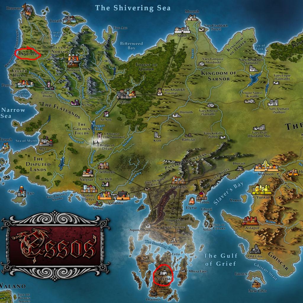 Map 12 - Andalos and Valyria
