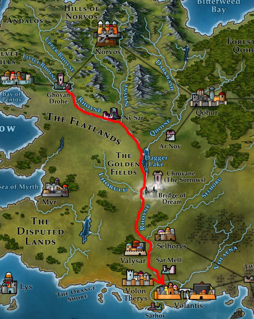 Map 2 - Tyrion's Journey