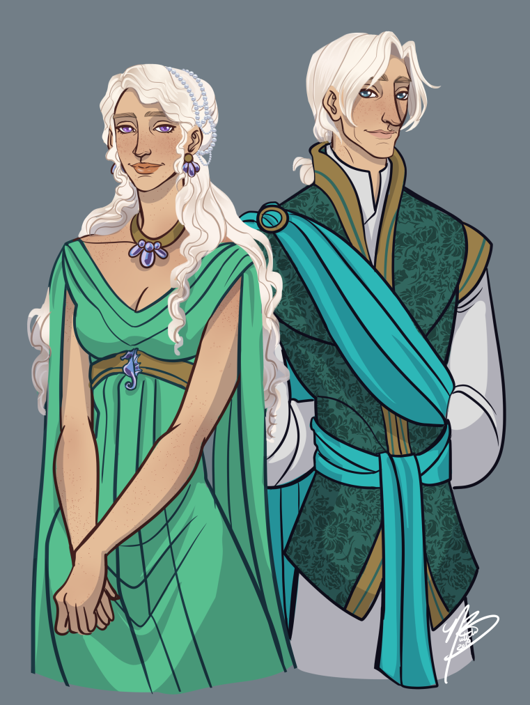 Dance of the Dragons - Laena and Laenor Velaryon by NaomiMakesArt