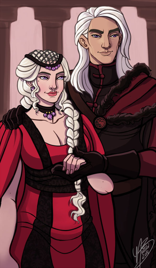 Dance of the Dragons - Rhaenyra and Daemon by NaomiMakesArt