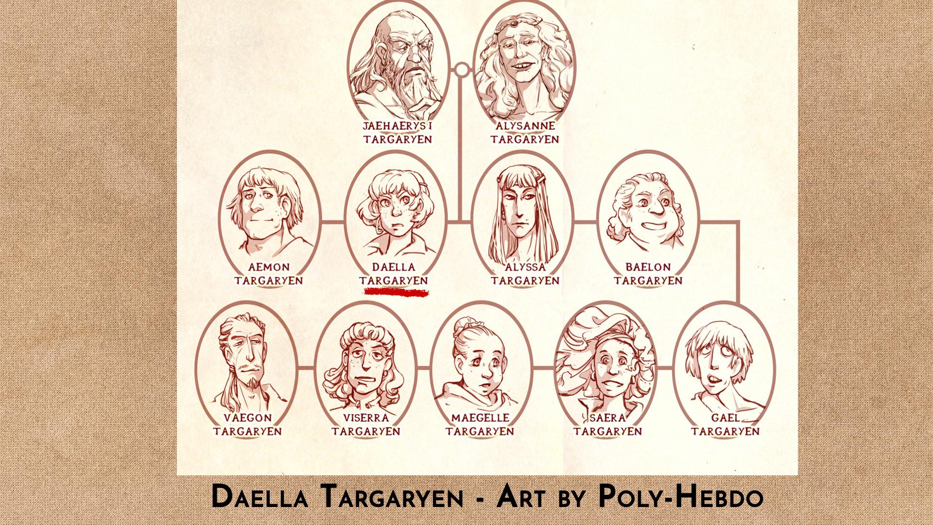 Daella Targaryen by Poly-Hebdo