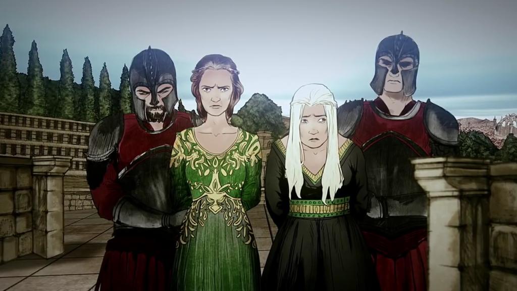 Alicent Hightower and Helaena Targaryen (Histories and Lore)